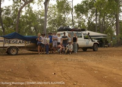 The SARA field team together with Dr Ross Dwyer from UQ and the team from the Steve Irwin Reserve. We had an amazing time, thank you Barry and Shelley!