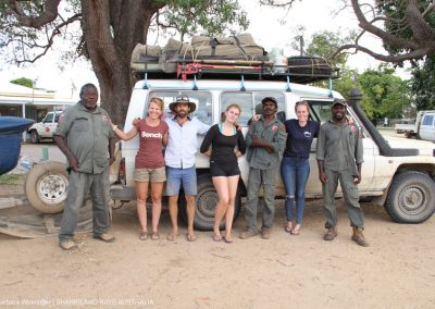 The SARA field team with the Kowanyama Land and Sea Rangers before saying good bye.