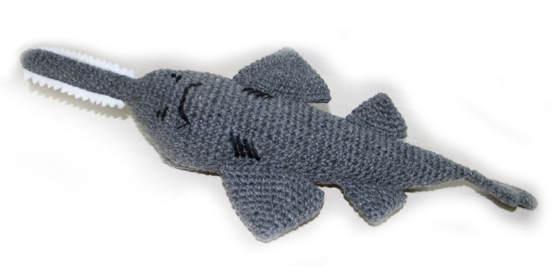 Scout The Sawfish Crochet Pattern Sharks And Rays Australia